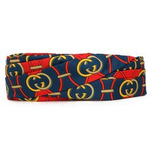 Gucci Silk GG Giwy Headband in Red